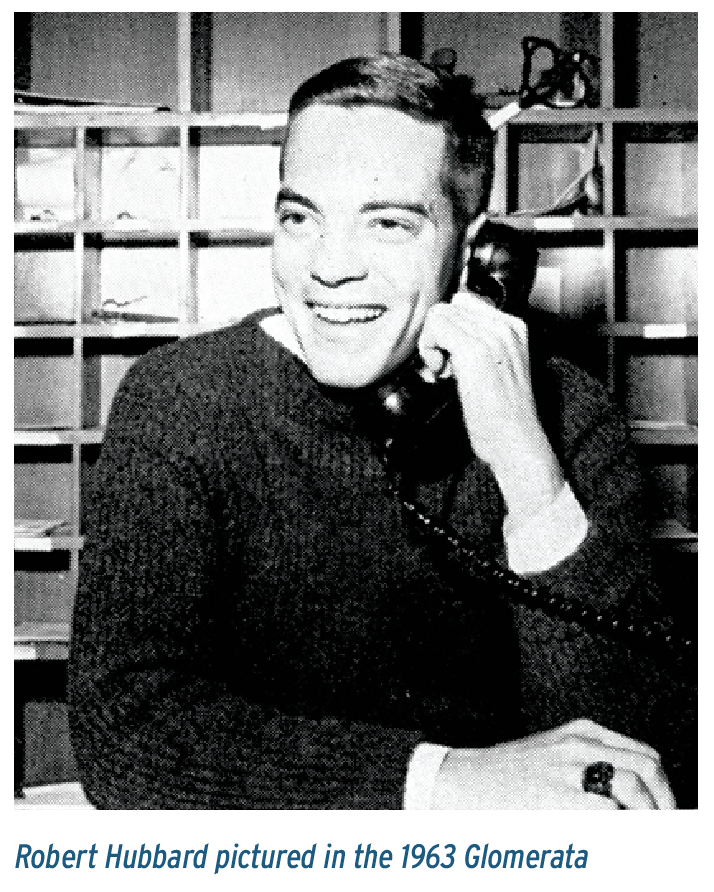 Robert Hubbard pictured in the 1963 Glomerata