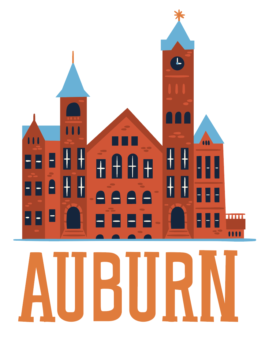 Auburn Samford Hall drawing