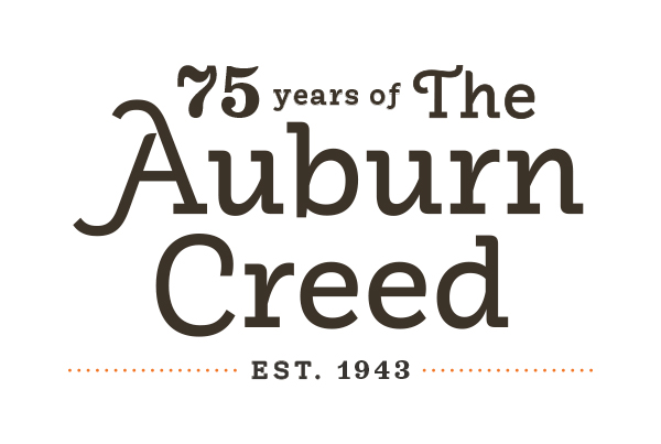 75 Years of The Auburn Creed Est. 1943
