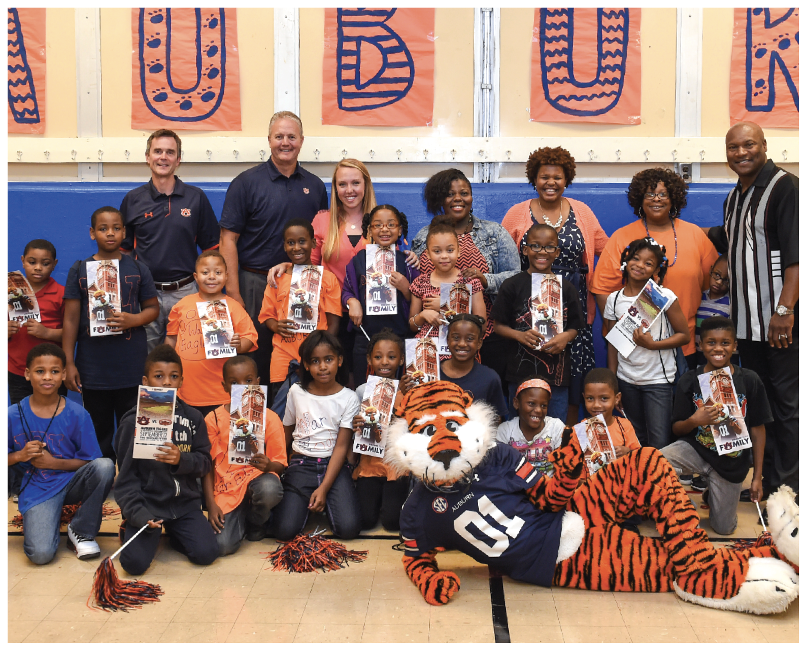 Aubie at Schmid Elementary School