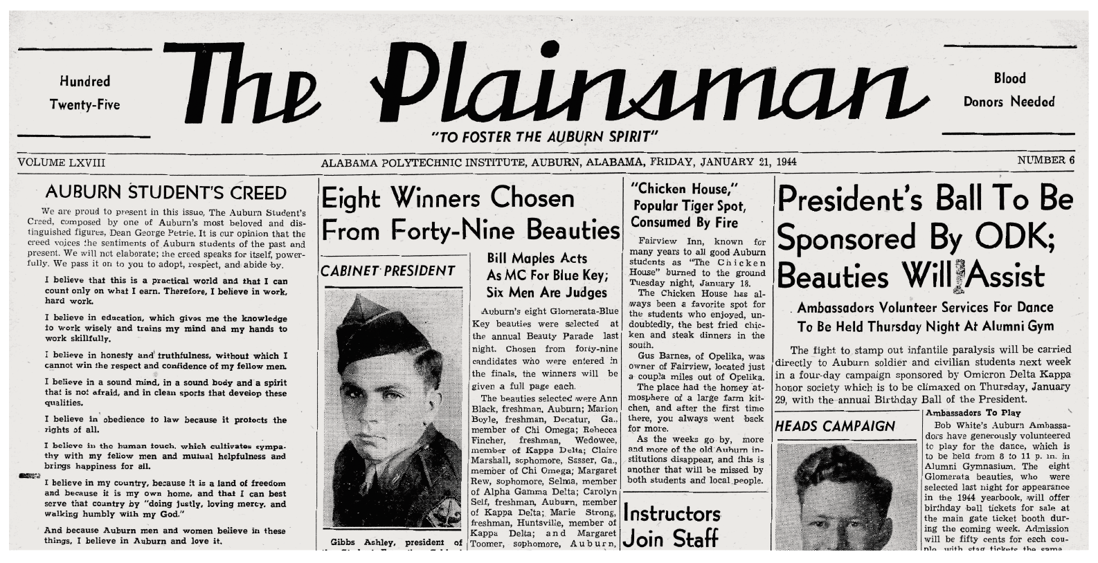 January 21, 1944 Plainsman