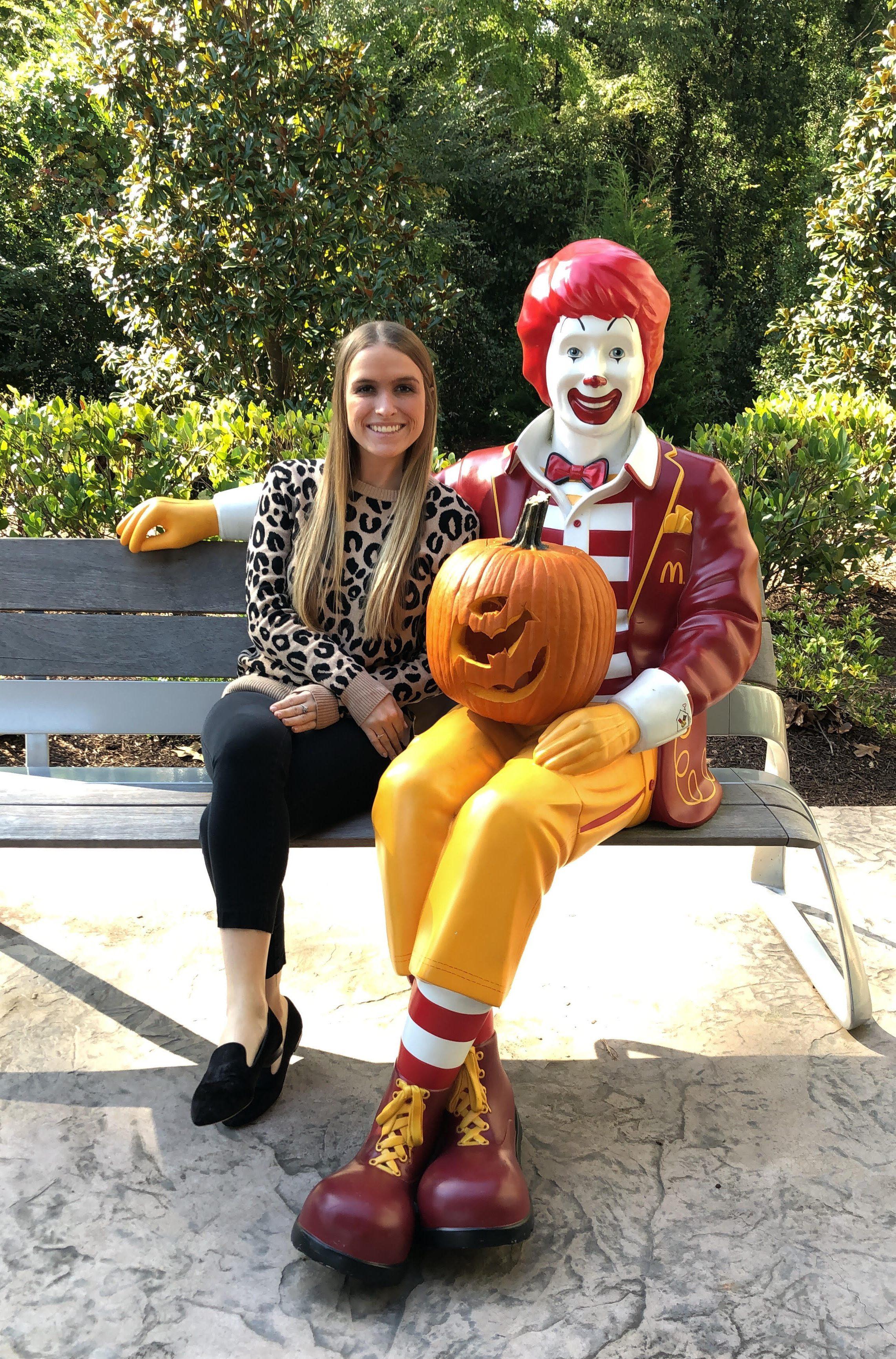 with Ronald McDonald