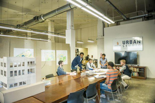 Urban Studios students collaborating
