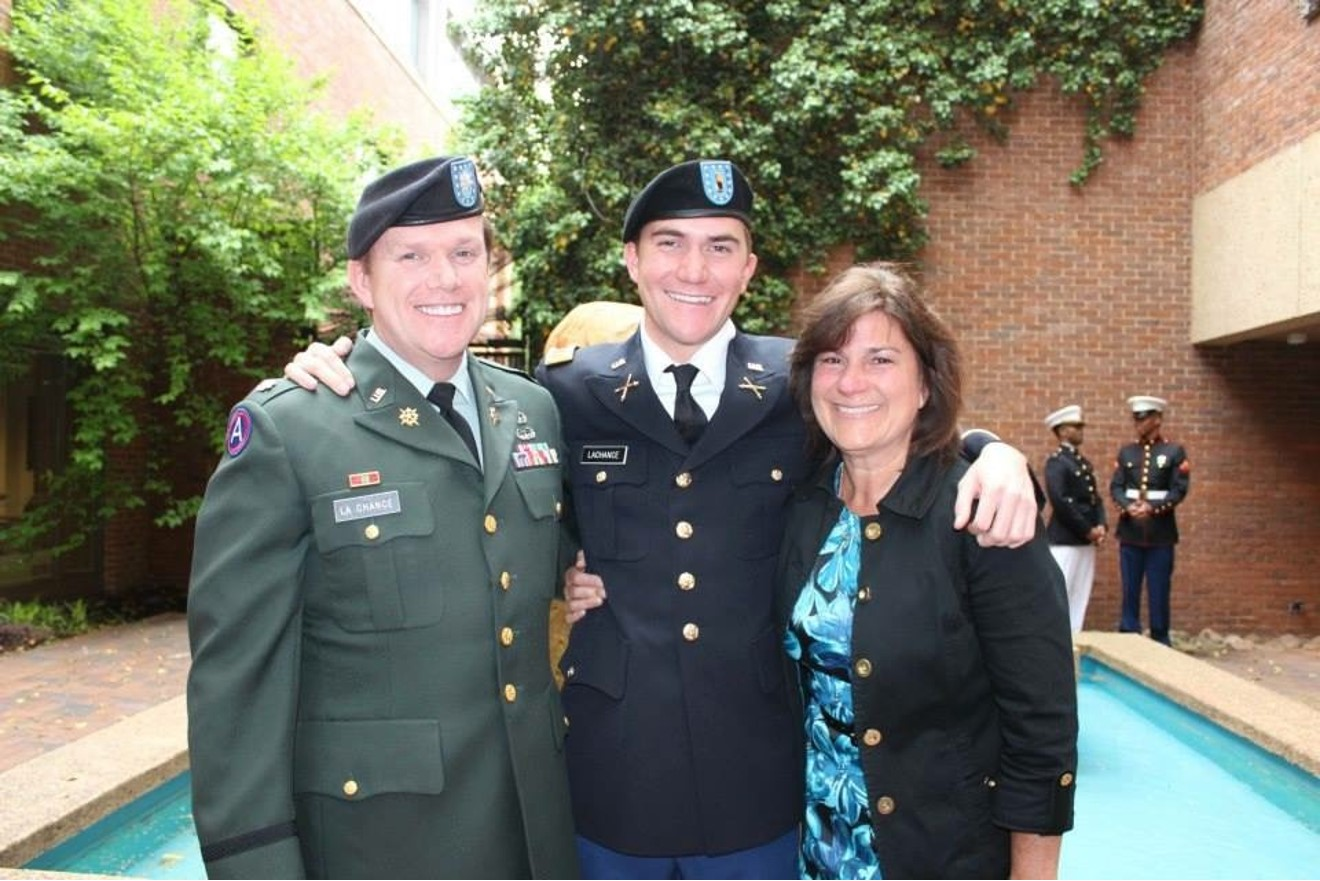 LaChance with his son, Michael Tyler (Vanderbilt '13) and wife Laura (Auburn '86)