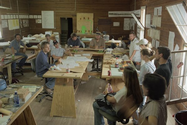 Freear teaching in Rural Studio, Red Barn