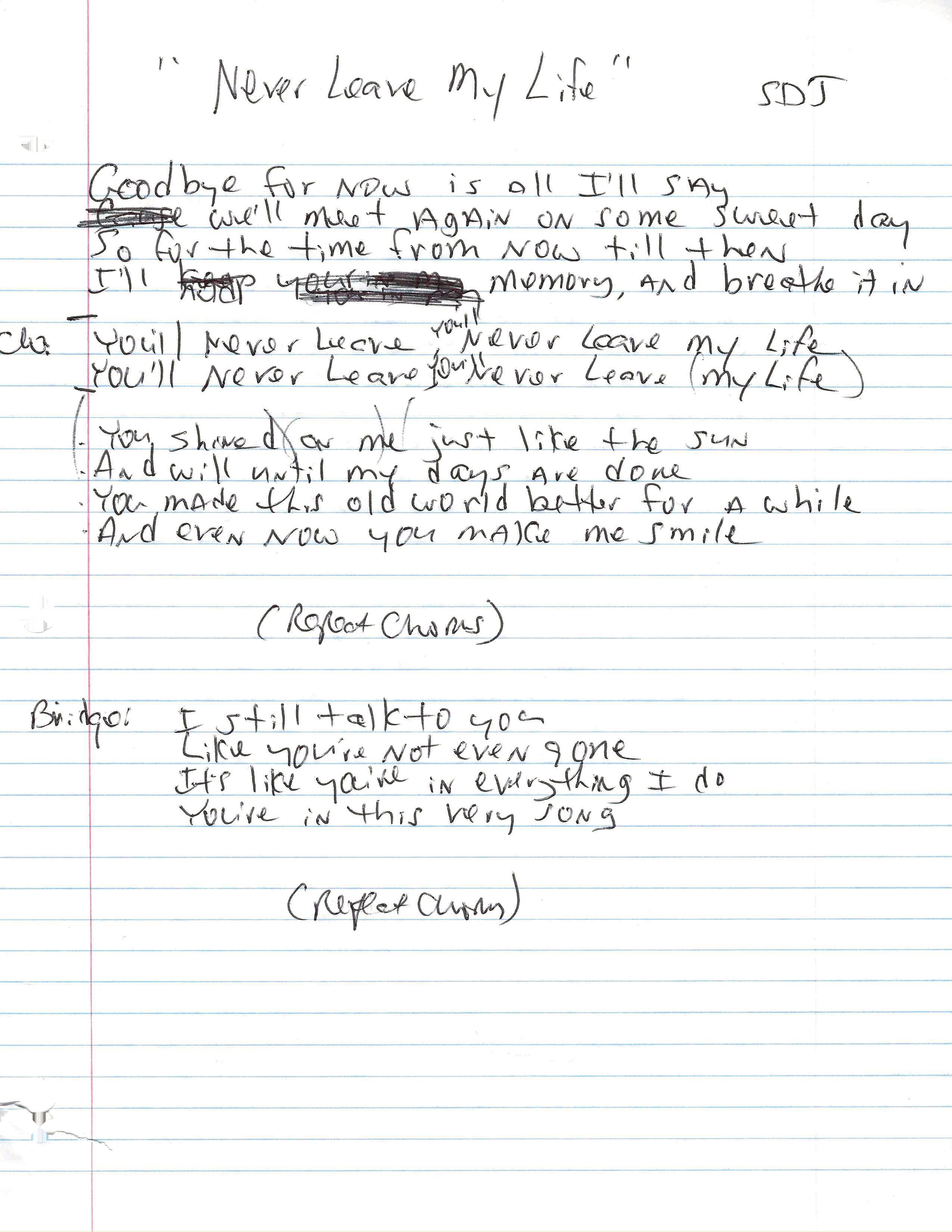 Steven Dale Jones Song notes