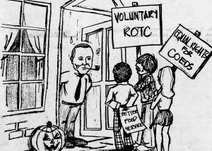 Philpott Cartoon of students protesting