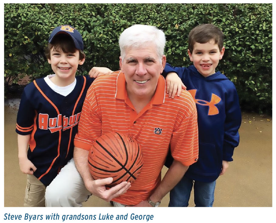 Steve Byars with grandsons Luke and George