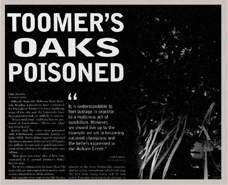 Toomer's Oaks Poisoned issue