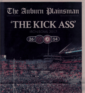 The Auburn Plainsman, 'The Kick Ass' Iron Bowl 2018