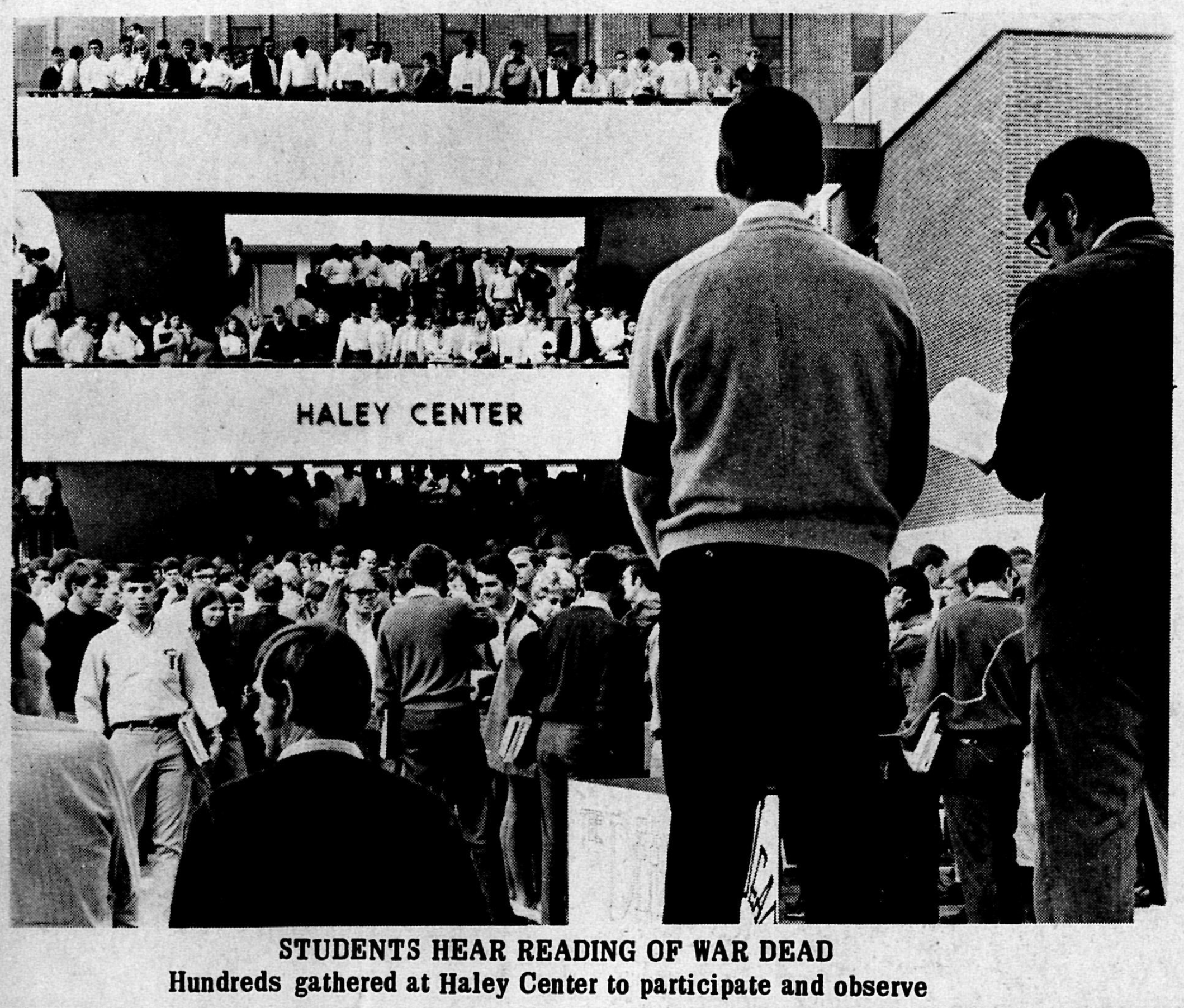 Students Hear Reading of War Dead, Hundreds gathered at Haley Center to participate and observe