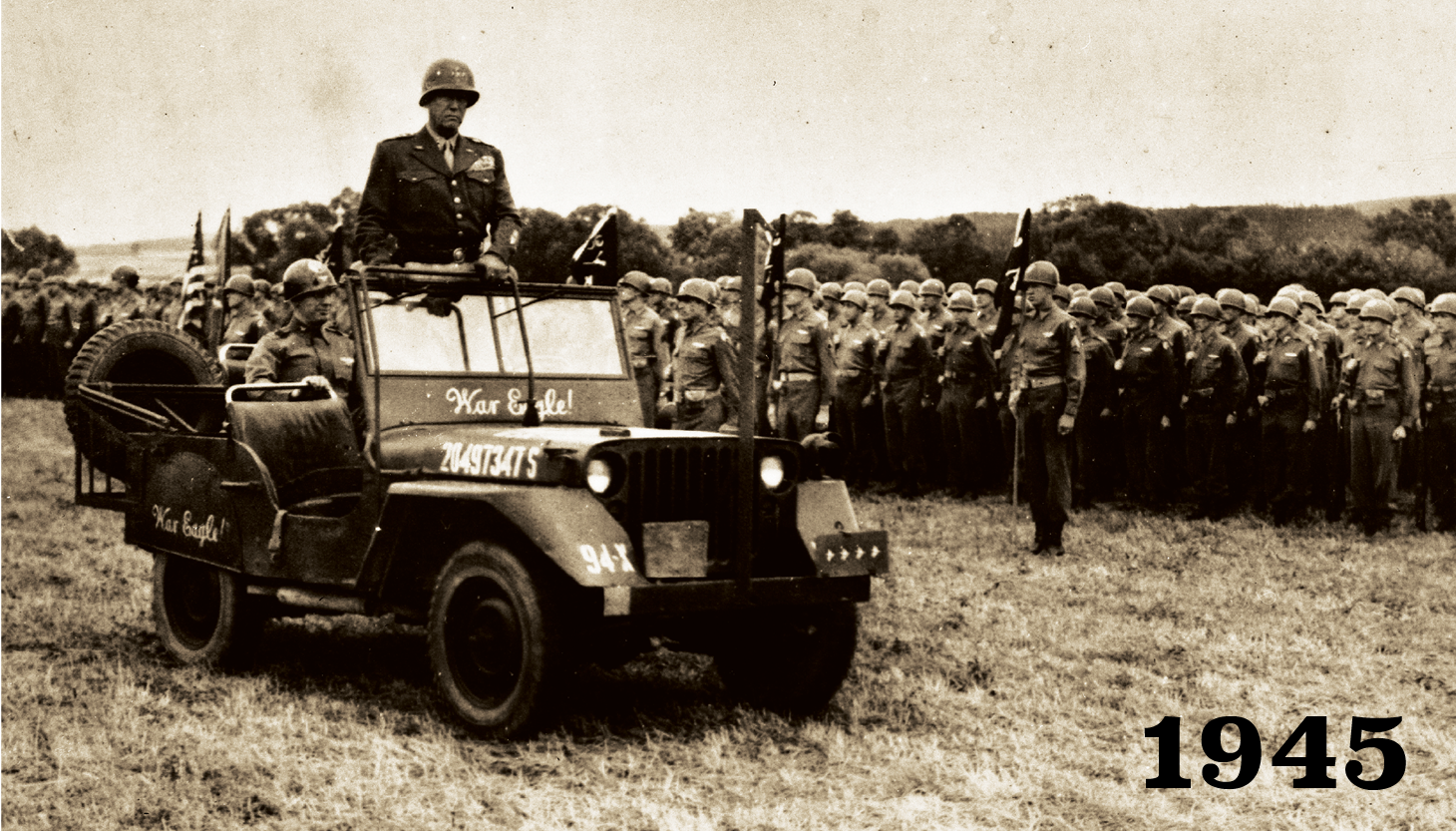 General Patton riding a