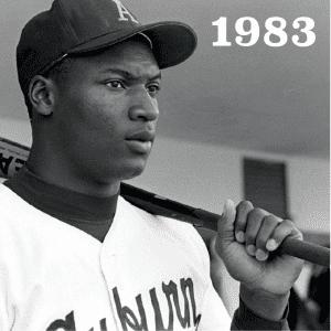 1983 Bo Jackson in Auburn baseball uniform