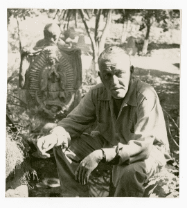 William Spratling with Juan Diego and Guadalupe statue