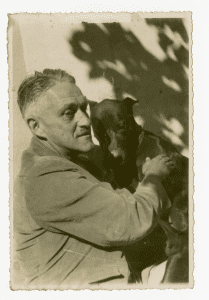 William Spratling with dog