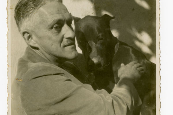 William Spratling with dog