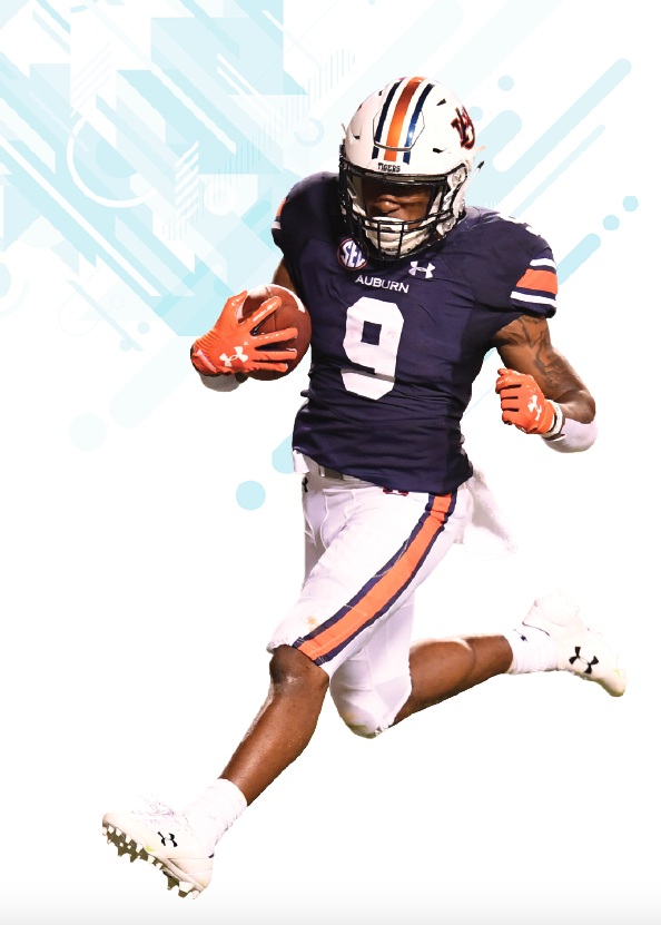 Kam Martin playing football for Auburn