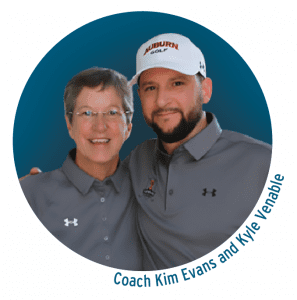 Coach Kim Evans and Kyle Venable