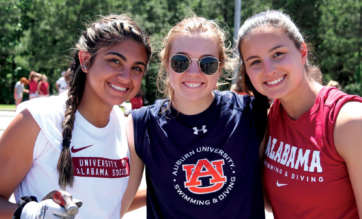 Auburn and Alabama join forces to help build houses for victims of the tornadoes