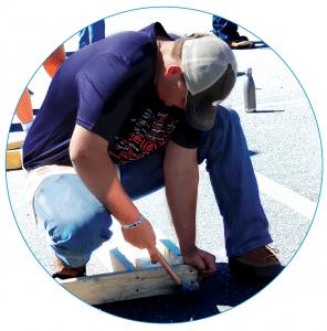 Auburn Student helping build houses