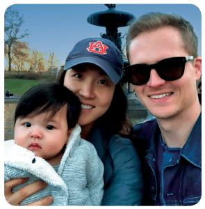Owen, Esther and Paul Schissler at Bethesda in Central Park.