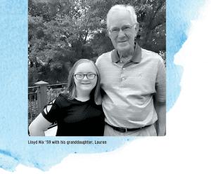 Lloyd Nix '59 with his granddaughter, Lauren