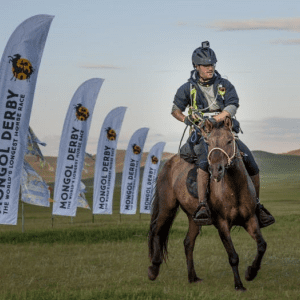 Sam Franklin Competing in Mongol Derby