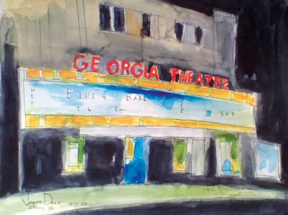 Georgia Theatre drawn by James Dean