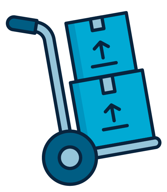 moving boxes illustration