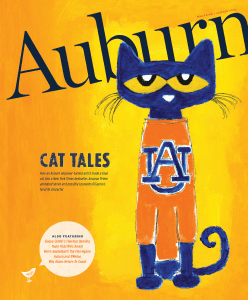 Auburn Magazine Winter 2019 cover featuring Pete the Cat