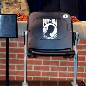Auburn Unveils Permanent POW/MIA Seat inside Jordan-hare Stadium