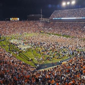 Auburn Fans Celebrate Iron Bowl Win