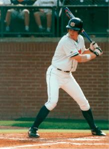 Gabe Gross as student playing baseball