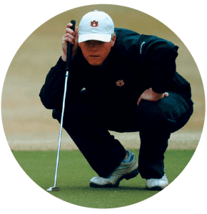 Will McCurdy as a student at Auburn playing golf