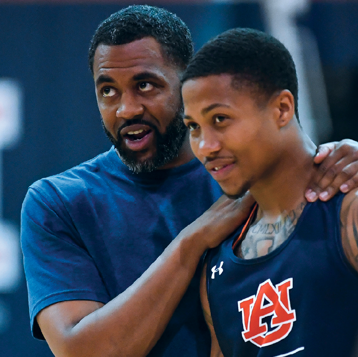Wes Flanigan as a coach at Auburn