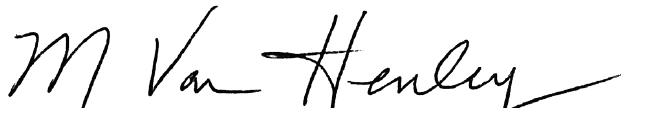 Van Henley Signature