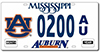 Mississippi Auburn Car Tag