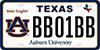 Texas Auburn Car Tag