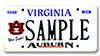 Virginia Auburn Car Tag