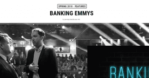 BANKING EMMYS Feature in Magazine