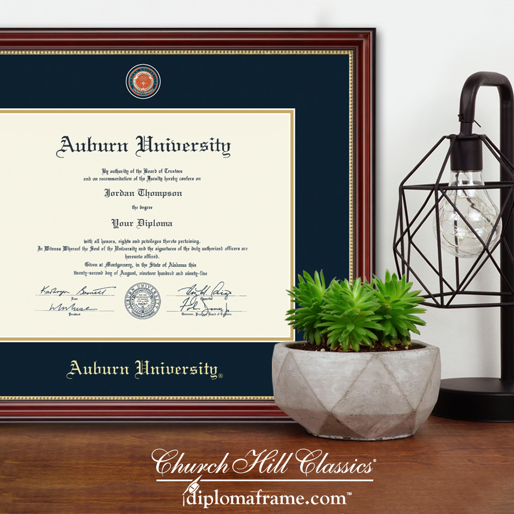 Churchill Diploma and Commerative Medallion Frame for Graduation Graphic