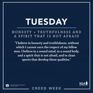 SGA Creed Week Graphic for Tuesday