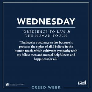 SGA Creed Week Image with the creed listed.