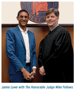 Jamie Lowe with the Honorable Judge Mike Fellows