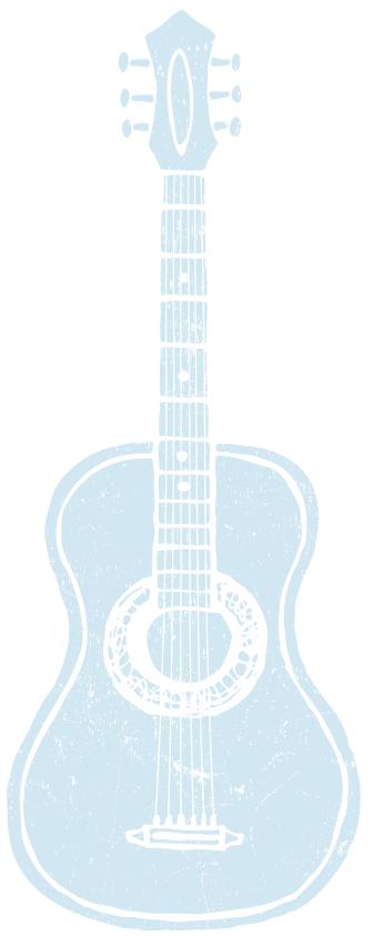 Blue Guitar Illustration