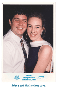 Brian's and Kim's college days.