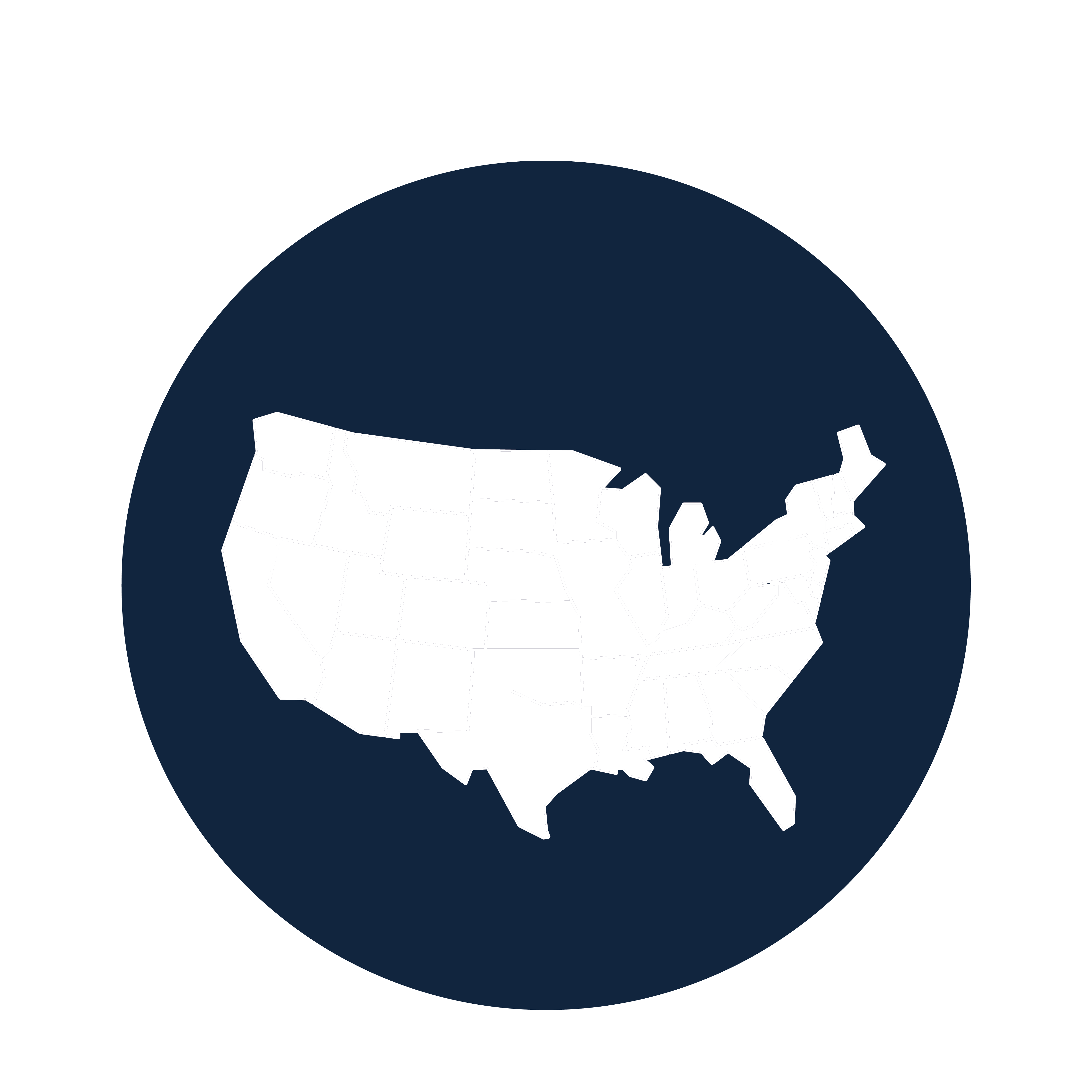 State icon to represent the number of states involved in the Young Alumni and Black Alumni Councils