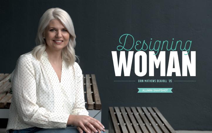 DESIGNING WOMAN Alumni Spotlight magazine article
