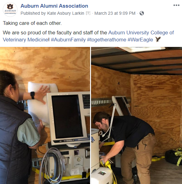 Facebook Post example for AAA