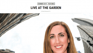 LIVE AT THE GARDEN Feature in Magazine
